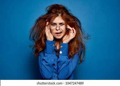 disheveled, tired woman