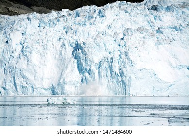 Disko Bay, Greenland - July - boat trip in the morning over the arctic sea - Baffin Bay - calving glacier eqi, world heritage, ice breaking of