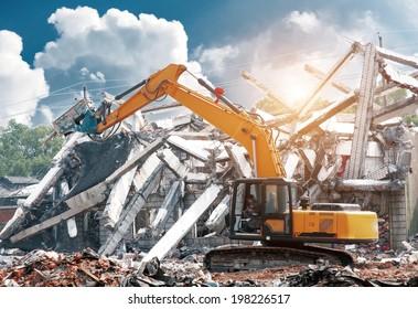 dismantling an apartment block.