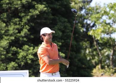 DISNEYLAND, FRANCE - JUNE 04 : Teilleria (FRA) at Alps and Allianz Golf Tour, Open international d'ile de France, Paris, june 03, 2010, at Disneyland golf course, France.