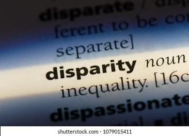 disparity word in a dictionary. disparity concept
