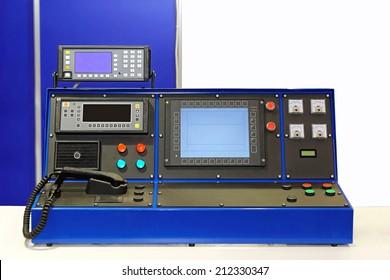 Dispatcher console desk in control room