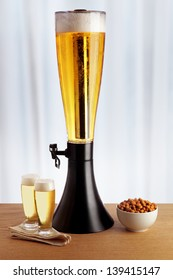 dispenser with beer and ice
