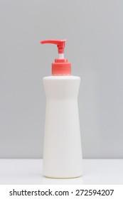 Dispenser pump cosmetic or hygiene, plastic bottle of gel, liquid soap, lotion, cream, shampoo, feminine wash