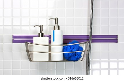 Dispensers of liquid soap and shampoo with bath sponge