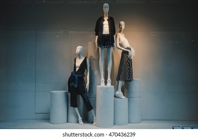 Display of a clothing store