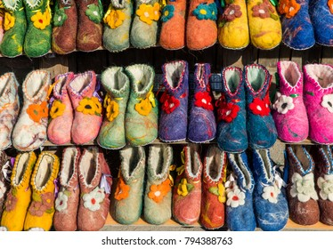 Display of slippers in Georgia