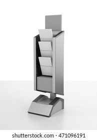 display stand mockup template on white. 3D rendering