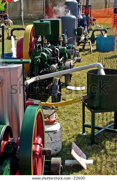 Display of steam operating engines