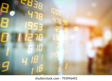 Display of Stock Market Exchanges or forex trading chart information background. Abstract business marketing financier background.investment concept