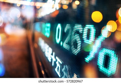 Display stock market numbers