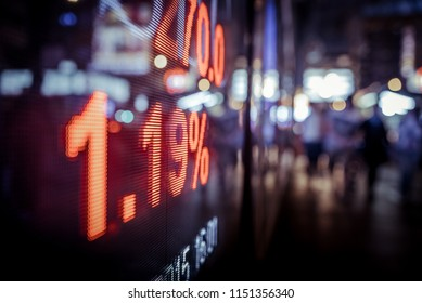 Display stock market numbers and graph on the street