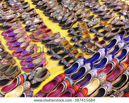 3ad774ce28fb Display Traditional Shoes Street Market Jaipur Stock Photo (Edit Now ...