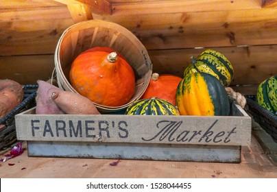 Display of vegetables at farmer's market
