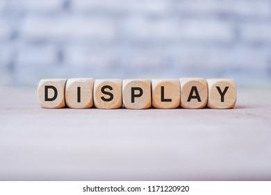 Display word written on wood block