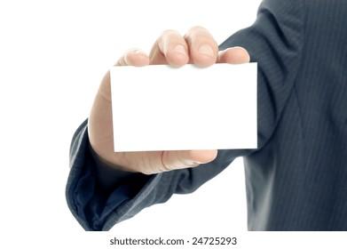 Displaying a blank card