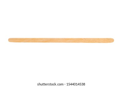disposable coffee wooden stir stick isolated on a white background.