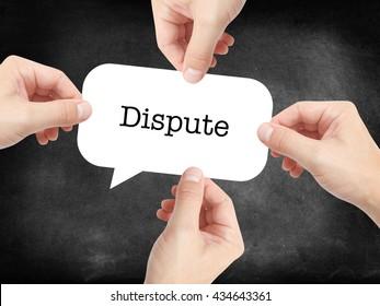 Dispute written on a speechbubble