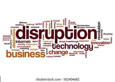 Disruption word cloud concept