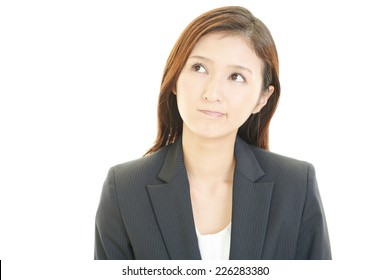 Dissatisfied business woman