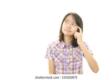 Dissatisfied girl