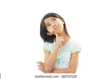 Unzufriedenes Mädchen