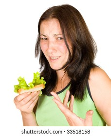 dissatisfied woman on a diet