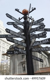 Distances to interesting parts of the World.