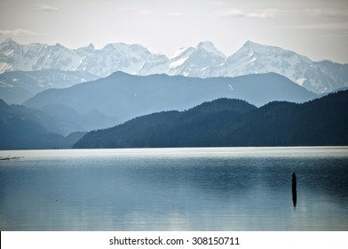 Distant mountains, Harrison Lake, British Columbia