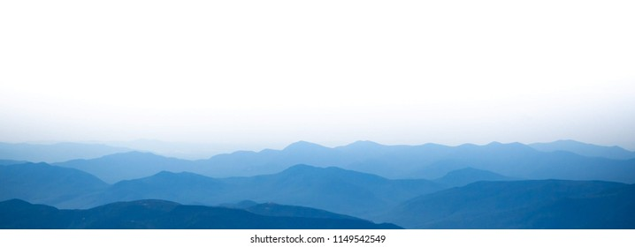 Distant mountains as seen from Mount Washington