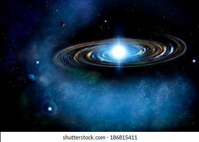 Distant Spiral Galaxy