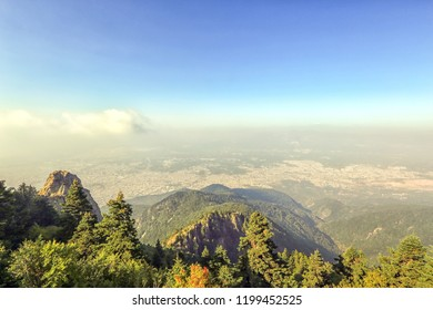 Distant view of the cityscape of Bursa from Mount Uludag. Bursa is a large city in Turkey, located in northwestern Anatolia, within the Marmara Region. It is the fourth most populous city in Turkey.
