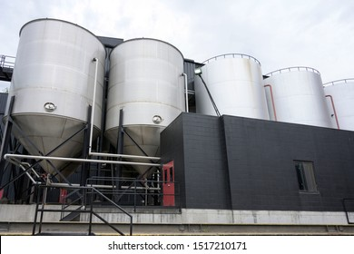 Distillate whiskey factory over sky isolated, Bard Town Kentucky, USA