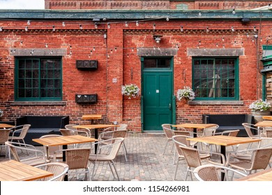 The Distillery District is a national historic site that encompass cafes, restaurants, shops and art galleries.