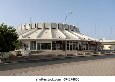 The distinctive circular architecture of the Star Cinema, in the Ruwi district of Muscat, Oman, on 7 August 2017