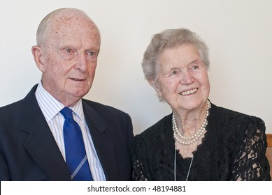 Distinguished old formal couple