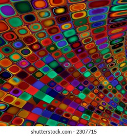 distorted psychedelic glass tiling pattern
