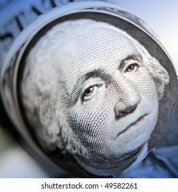 Distortion applied to American dollar note