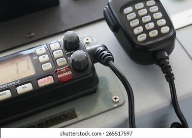 Distress call button on two way radio