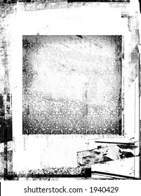 Distressed, black frame