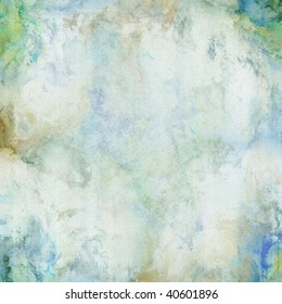 Distressed blue green with subtle marble effect.  Abstract background design with paper grain.