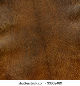Distressed Brown Leather Background With Some Wrinkles