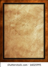 Distressed leather background with black border