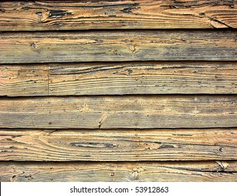Distressed old barn wood clapboard background on a historic building