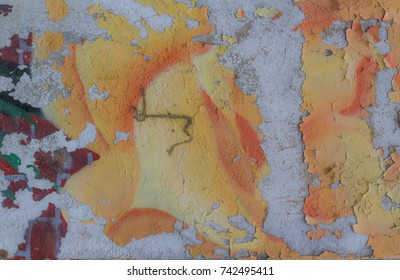 Distressed peeling paint background texture