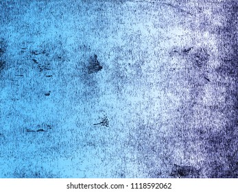 A distressed print textured background in graduated shades of blue. Scanned from an original lino print.