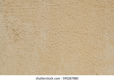 Distressed Red Plaster Wall With Cracked Surface Wide Grunge Background. Brown Brick Mortar Wall With Broken Shabby Stucco Isolated Texture. Empty Grunge Rustic Exterior House Wall Orange Surface