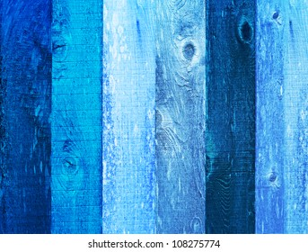 Distressed Vintage Robins Egg, Navy & Baby Boy Blue Grunge Wood Grain Texture Background