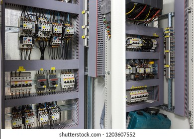 Distribution board (panelboard, breaker panel, or electric panel) is component of electricity supply system that divides  electrical power feed into subsidiary circuits. Moscow - 2018