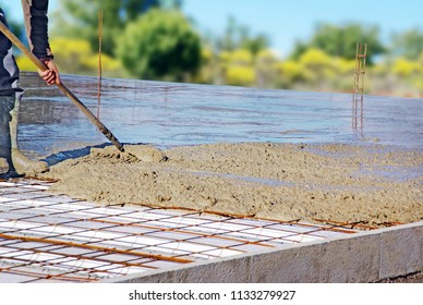 Distribution of casting concrete
